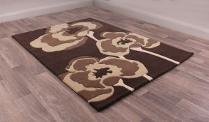 Poppie Chocolate Wool Rug by Ultimate Rug