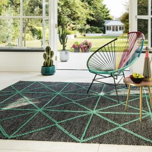Prism Green Wool Rug by Asiatic