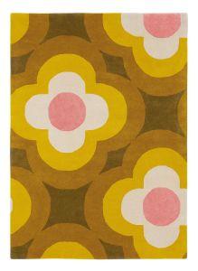 Pulse 060306 Yellow Wool Rug by Orla Kiely