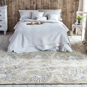 Pure Pimpernel 028701 Linen Hand Tufted Wool Rug by Morris & CO.