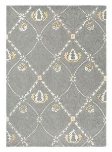 Pure Trellis 029104 Lightish Grey Hand Tufted Wool Rug by Morris & CO.