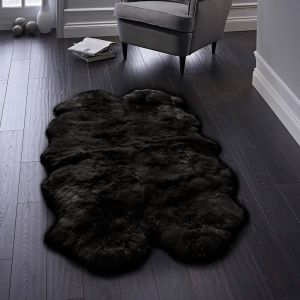 Genuine Sheepskin Black Rug by Origins