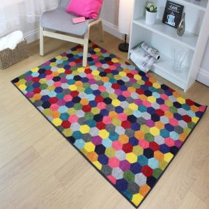 Radiant Hexagon Multi Rug by Flair Rugs