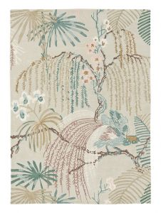 Rain Forest 050701 Orchid Grey Hand Tufted Wool Rug by Sanderson