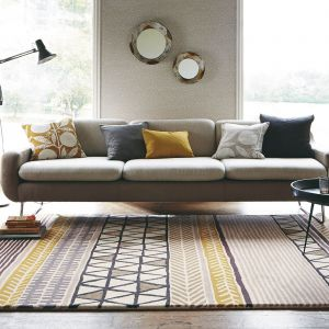Raita 24701 Taupe Hand Tufted Wool Rug by Scion