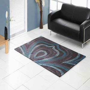 Retro Abstract Design Unique Rug by Prestige