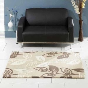 Retro Flower Oatmeal Rugs By Ultimate Rug 1