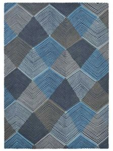 Rhythm 40908 Indigo Handtufted wool Rug by Harlequin