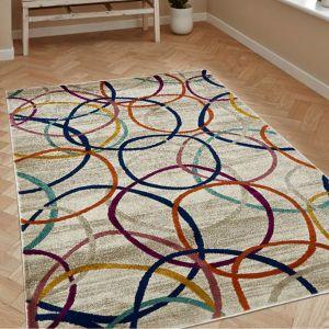 Rings Multi Geometric Rug by Floorita