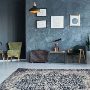 River 140 Grey Multi Traditional Rug by Kayoom