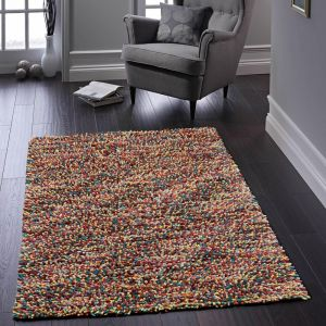 Rocks Shaggy Multi Wool Rug by Origins