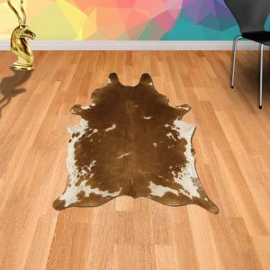 Rodeo Cowhide Brown & White Abstract Rug By Asiatic