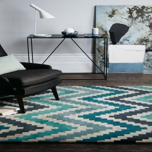 Romo Scala Teal RG2003 Rug by Louis De Poortere