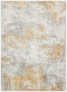 Rossa ROS03 Silver Gold Abstract Rug by Concept Looms