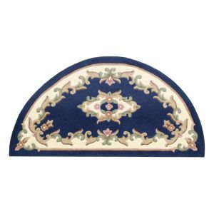 Royal Blue Traditional Half Moon Rug by Oriental Weavers