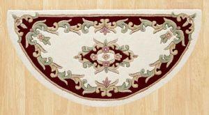 Royal Jewel JEW04 Cream Red Half Moon Traditional Rug By Oriental Weavers