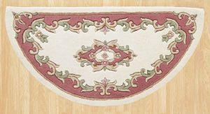 Royal Jewel JEW02 Cream Rose Half Moon Traditional Rug By Oriental Weavers