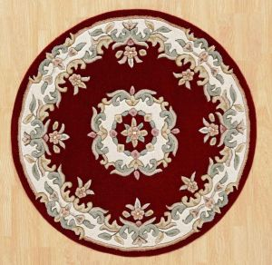 Royal Jewel JEW11 Red Circle Traditional Rug By Oriental Weavers
