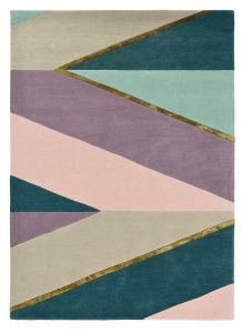 Sahara 56102 Pink Hand Tufted Wool Rug by Ted Baker