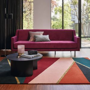 Sahara 56105 Burgundy Hand Tufted Wool Rug by Ted Baker
