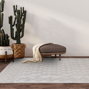 Salta SA05 White Rug by Asiatic