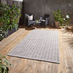 Santa Monica A041 Beige Outdoor Rug by Think Rugs