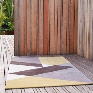 Sark Coupee Taupe Handtufted Wool Rug by Claire Gaudion