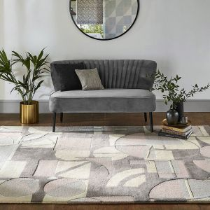 Segments 41901 Stone Handtufted wool Rug by Harlequin