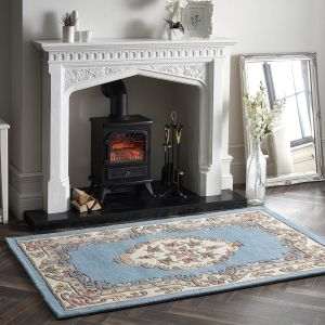 Shensi Blue Traditional Wool Rug by Origins