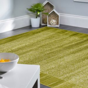 Sienna Green Bordered Rug by Floorita