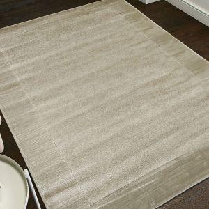Sienna Grey Bordered Rug by Floorita