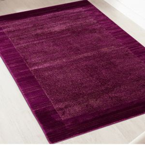 Sienna Violet Bordered Rug by Floorita