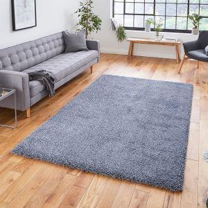 Sierra 9000 Slate Grey Plain Shaggy Rug by Think Rugs