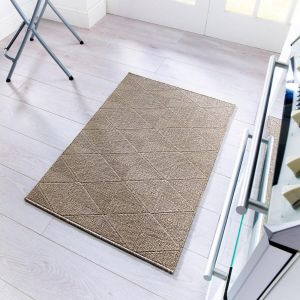 Skyline Petronas Brown Runner by Flair Rugs