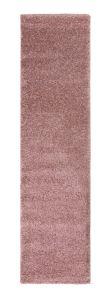 Sleek Blush Pink Plain Shaggy Rug by Flair Rugs