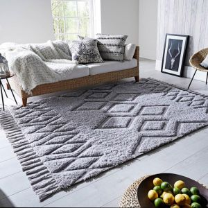 Solitaire Daria Grey Rug by Flair Rugs