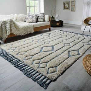Solitaire Sion Natural/Duck Egg Rug by Flair Rugs