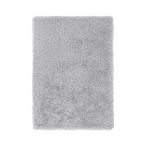 Sora Grey Plain Shaggy Rug by Luxor Living