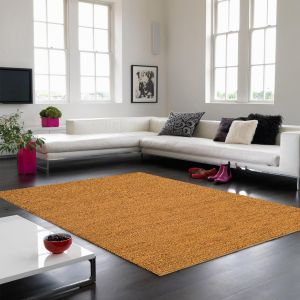Soumak Jute Gold Plain Rug By Asiatic