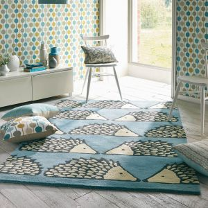 Spike 26808 Marine Hand Tufted Wool Rug by Scion