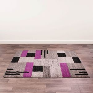 Spirit Blocks Purple Rug by Ultimate Rug