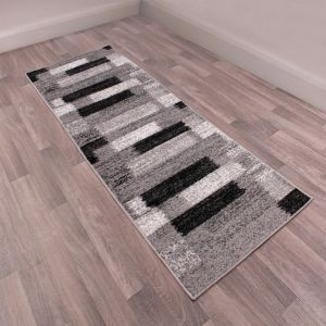 Spirit Mosaic Grey Runner by Ultimate Rug