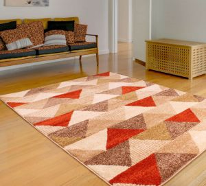 Spirit Triangle Terracotta Rug by Ultimate Rug