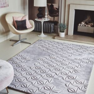 Starburst Lilac Wool Rug by Asiatic