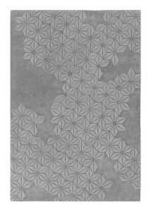 Starburst Silver Wool Rug by Asiatic