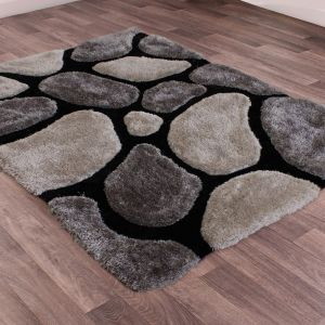 Stepping Stones Black Rug by Ultimate Rug