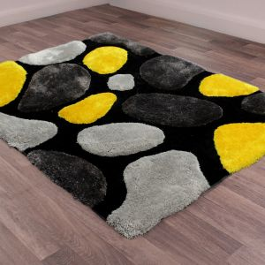 Stepping Stones Charcoal Gold Rug by Ultimate Rug