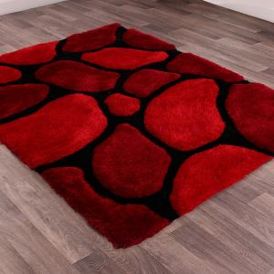 Stepping Stones Red Rug by Ultimate Rug