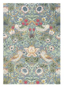 Strawberry Thief 027718 Slate Hand Tufted Wool Rug by Morris & CO.