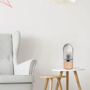 Table Lamp Malbi 500 Grey / Wood